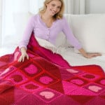 Warm My Heart Throw ~ Ann Regis - Red Heart