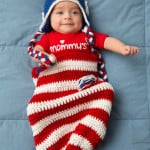Patriotic Baby Cocoon & Hat ~ Salena Baca - Red Heart