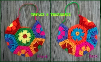 Flower Child Bag by Tera Kulling of Trifles N Treasures