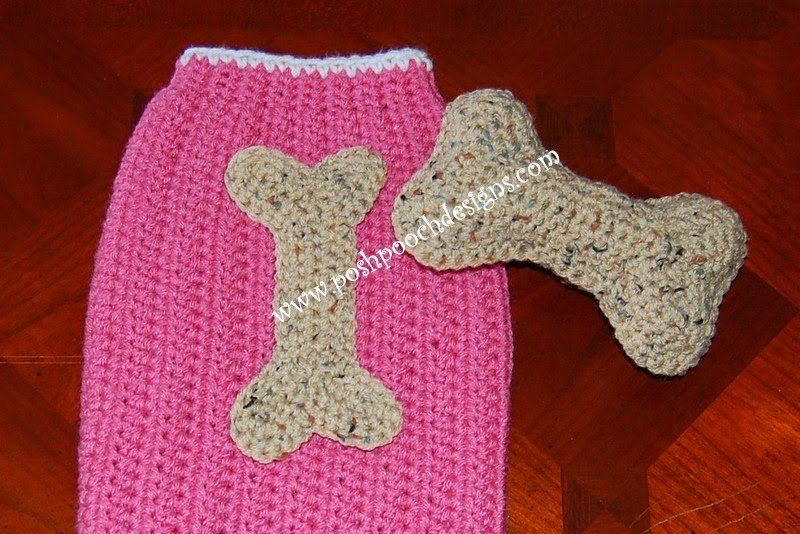 Dog Bone Applique and Toy by Sara Sach of Posh Pooch Designs