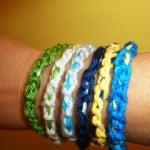 Chain Stitch Bangle Bracelet by Crochet Parfait