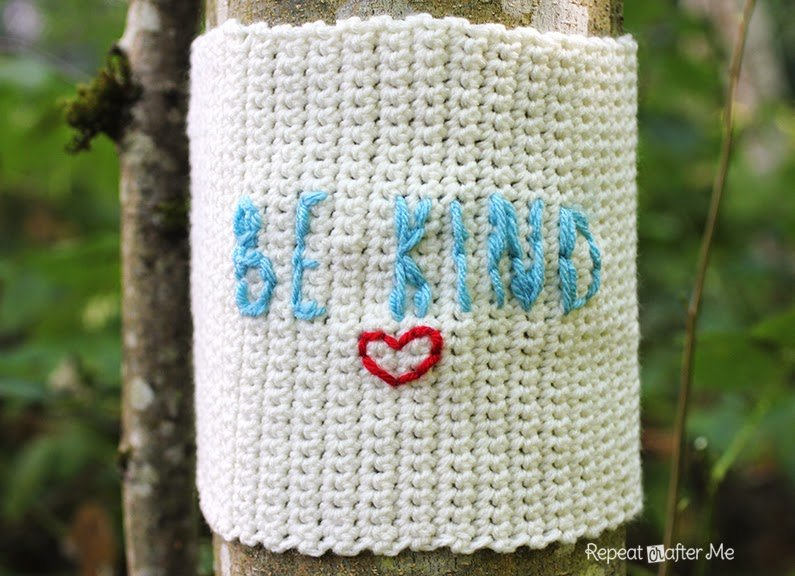 Be Kind Yarn Bomb by Repeat Crafter Me