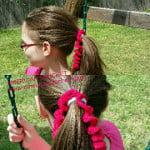Curly Cue Ponytail Ties ~ American Crochet