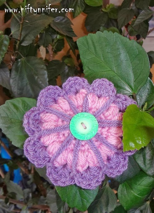 Funky Flower Fridays Week #8 by Jennifer Gregory of Niftynnifer's Crochet & Crafts