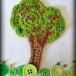 Crochet Tree Motif Embellishment by Jennifer Gregory of Niftynnifer's Crochet & Crafts