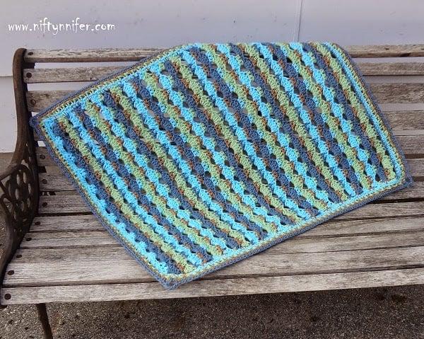 Baby Blue Blanket by Jennifer Gregory of Niftynnifer's Crochet & Crafts