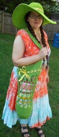 Southern Belle Sun Hat and Swim Tote ~ 2 Crochet Hooks