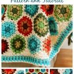 Crochet Hexagon Afghan ~ Petals to Picots