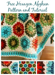 Crochet Hexagon Afghan by Petals to Picots