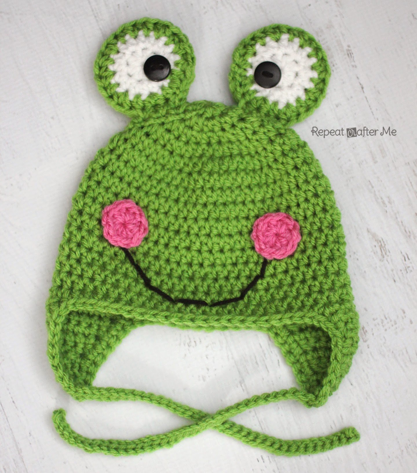 Crochet Frog Hat by Repeat Crafter Me