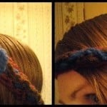 Fall Flower and Cable Headband ~ Crochet is the Way