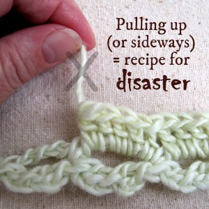 Frogging Fuzzy Yarn by Mr. Micawber's Recipe for Happiness