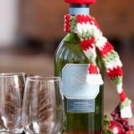 Dressed-to-Party Bottle Accessories ~ Tracie Barrett - Red Heart