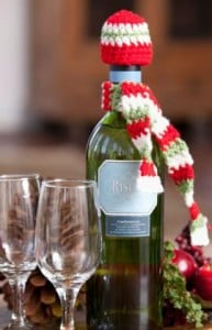 Dressed-to-Party Bottle Accessories by Tracie Barrett for Red Heart