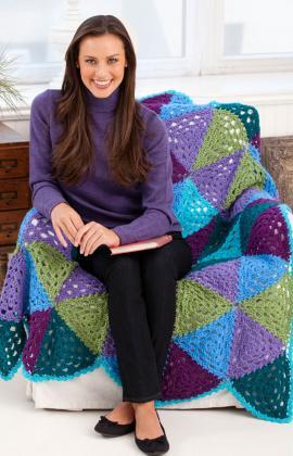 Triangle Crochet Afghan Pattern