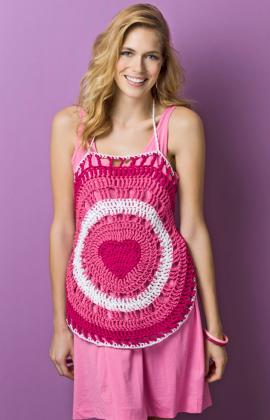 Heartfelt Halter by Double Stitch Twins for Red Heart/Yarnspirations