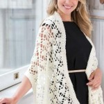 Crochet Lacy Wrap ~ Red Heart