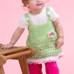 Peapod Baby Sundress ~ Kristen Stoltzfus - Red Heart