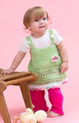 Peapod Baby Sundress by Kristen Stoltzfus for Red Heart at Yarnspirations