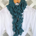 Liliaceous Scarf Pattern and Tutorial ~ Mr. Micawber's Recipe for Happiness