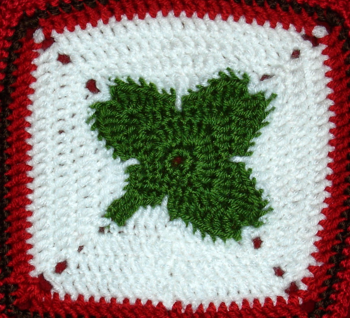 Lucky Clover Granny Square by Free Patterns By H