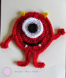 Miles the Monster Applique by Knot Your Nana's Crochet