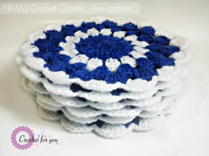 Nil Mal Crochet Coaster ~ Erangi Udeshika