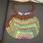 My Version of the Granny Square Striped Bag by Yarn Over, Pull Through