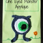 One Eyed Monster Applique by Knot Your Nana's Crochet