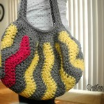 Pop of Pink Vertical Chevron Purse ~ Cre8tion Crochet