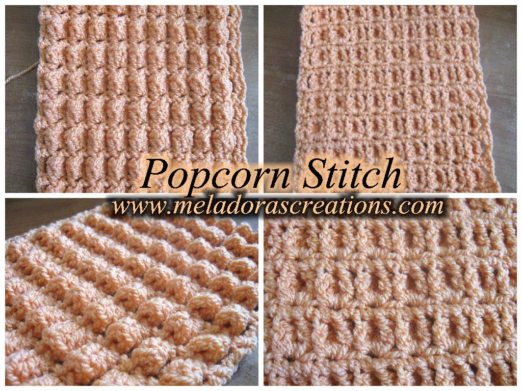 The Popcorn Stitch - Row and Round ~ Meladora's Creations