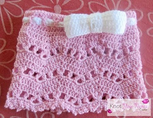 Little Bow Skirt by Knot Your Nana's Crochet