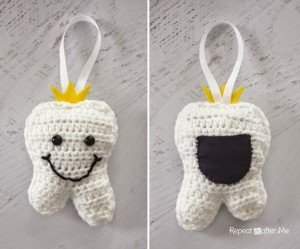 Crochet Tooth Fairy Pillow by Repeat Crafter Me
