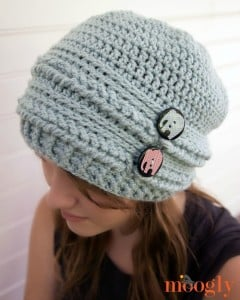Ups and Downs Crochet Slouchy Beanie by Moogly
