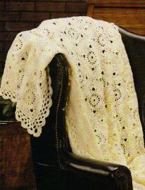 Victorian Lace Afghan by MomsLoveOfCrochet.com