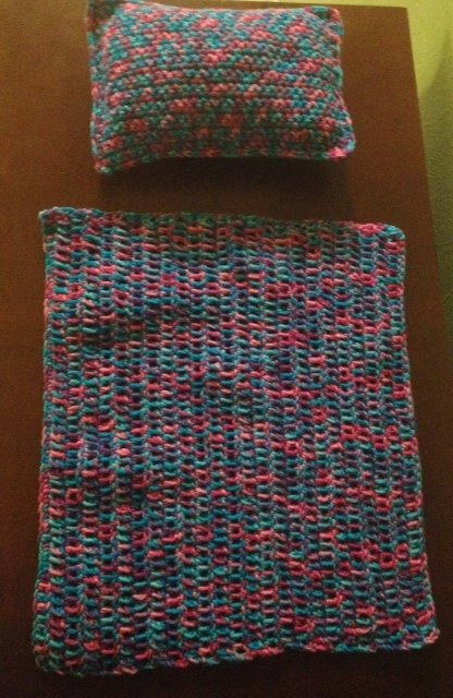 American Girl Doll Crochet Pillow and Blanket ~ Hooking is a Lifestyle