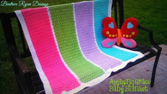 Amazing Grace Baby Blanket by Beatrice Ryan Designs