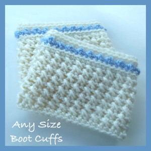 Any Size Boot Cuffs by CrochetN'Crafts