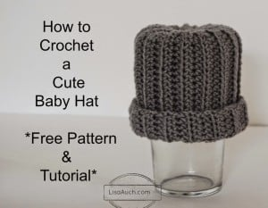 Easy Baby Hat by Free Crochet Patterns and Designs by Lisa Auch