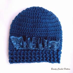 Baby Crochet Hat with Lace Ribbon ~ Beauty Crochet Pattern