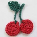 Cherry Applique by Emilee Gettle for Crochet Spot