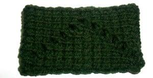 Tunisian Zigzag Eyelet Wristband by Candace for Crochet Spot