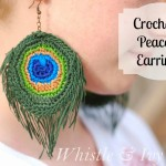 Crocheted Peacock Earrings by Whistle & Ivy