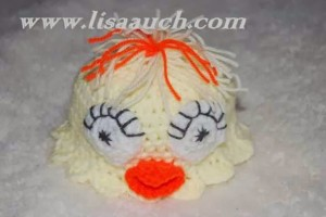 Easy Easter Chick Crochet Hat by Free Crochet Patterns and Designs by Lisa Auch