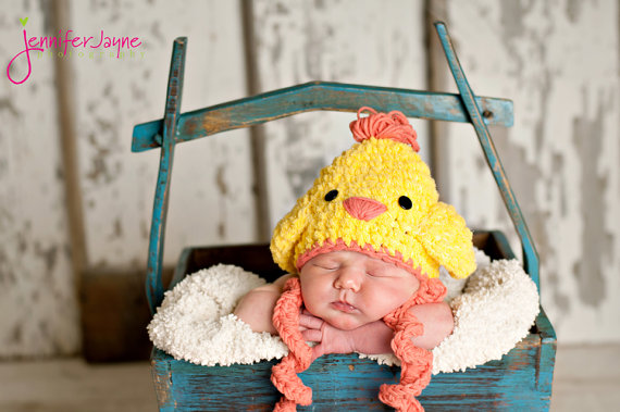Easter Chicken Crochet Hat Pattern by Jenny and Teddy