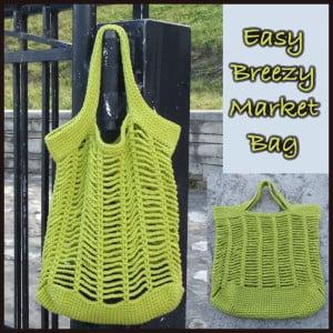 Easy Breezy Market Bag by CrochetN'Crafts