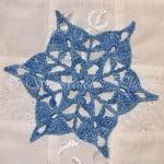 Denim Frost Snowflake by Snowcatcher
