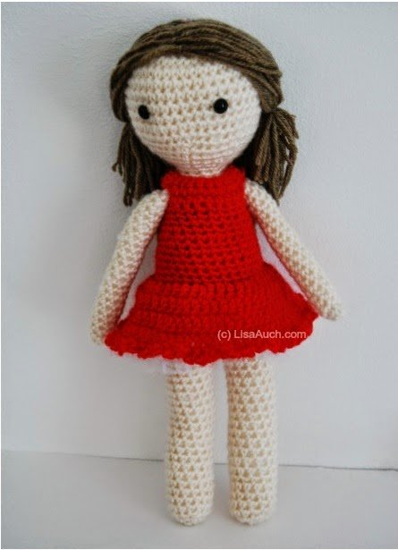 Amigurumi Doll by Free Crochet Patterns and Designs by Lisa Auch