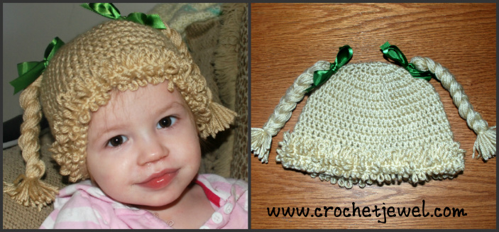 Crochet Inspired Cabbage Patch Hat with Video (All Sizes) by Amy of Crochet Jewel