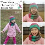 Winter Waves Chevron Cowl Toddler Size by Cre8tion Crochet